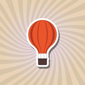 Hete lucht ballon pictogram ontwerp