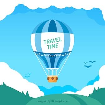 Hete lucht ballon reizen achtergrond