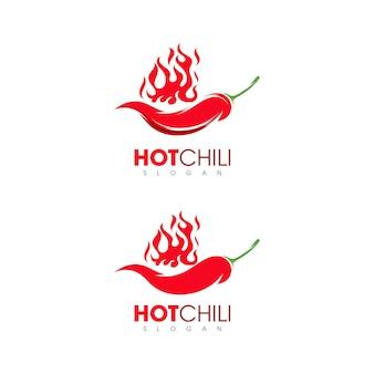 Hete natuurlijke rode chili pictogrammen sjabloon illustraties