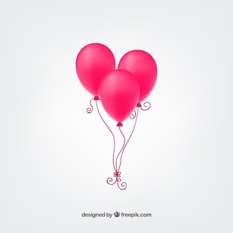Hete roze ballonnen