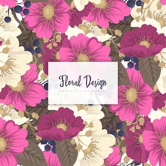 Hete roze bloem naadloze achtergrond