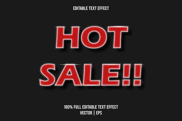 Hete verkoop 3 dimensie teksteffect rode kleur