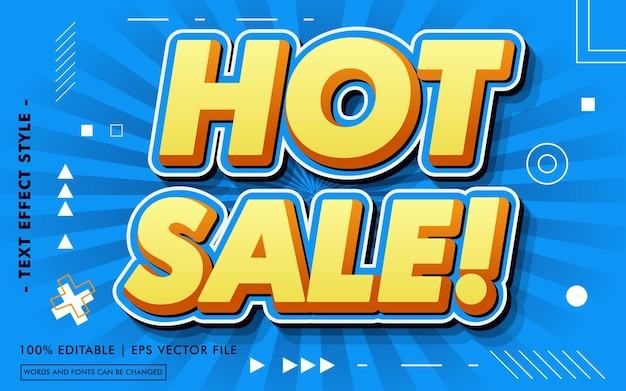 Hete verkoop! teksteffecten stijl