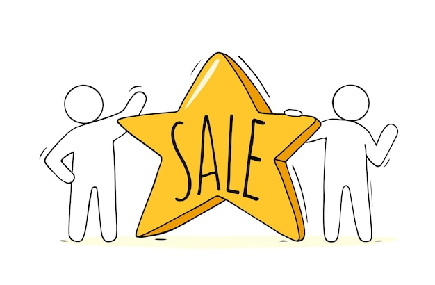 Hete verkoopsjabloon - cartoon geïsoleerd verkoopetiket. promoprijskorting, reclamebadge met promokaart.