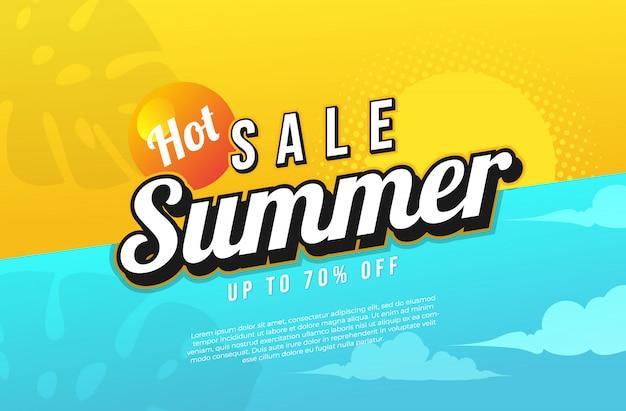 Hete zomer verkoop banner achtergrond