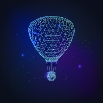 Heteluchtballon vliegen