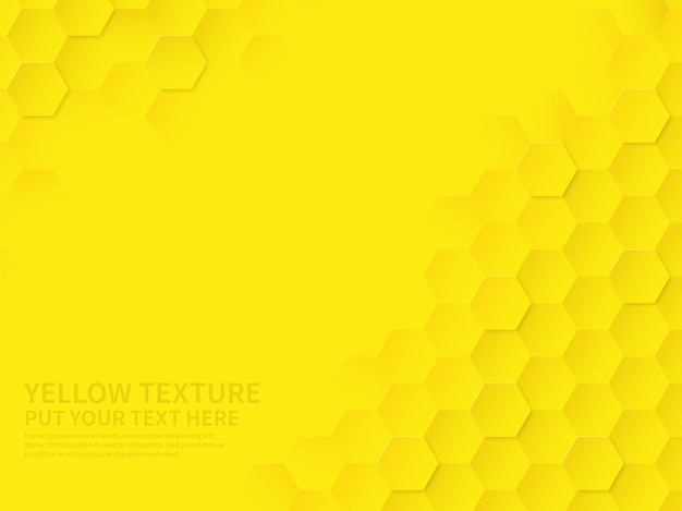 Hex textuur. geel honingraat geometrisch patroon, abstracte scheikunde technologie wetenschap