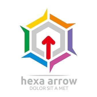 Hexa arrows logo design