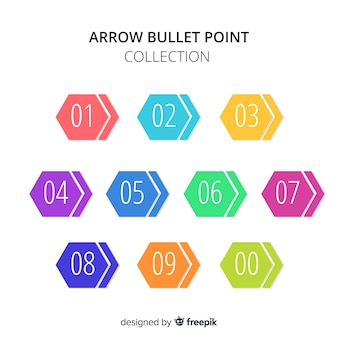 Hexagon bullet punt verzameling