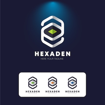 Hexagon e letter logo
