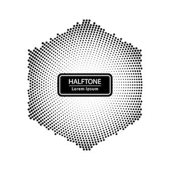Hexagon halftone achtergrond