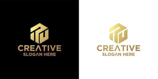 Hexagon logo ontwerp inspiratie premium