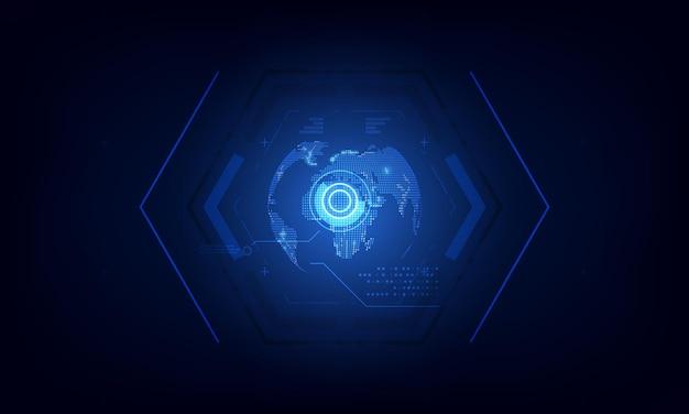 Hexagon patroon tech-technologie