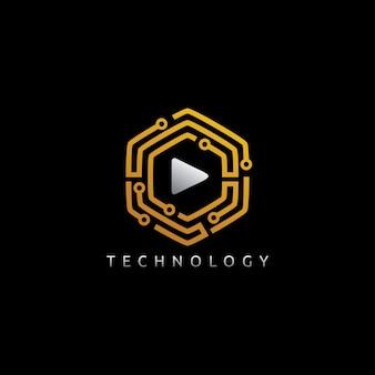 Hexagon play-logo