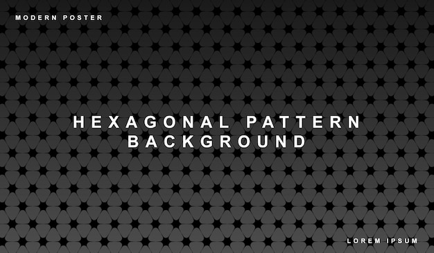 Hexagonaal naadloos patroon achtergrondgradiëntbehang.