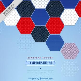 Hexagonale achtergrond van europees kampioenschap 2016