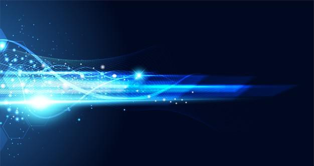 Hi tech achtergrond concept snelheid beweging beweging