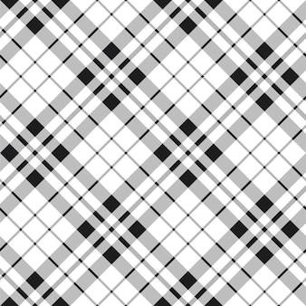 Hibernian fc-geruite schotse wollen stof naadloze zwart en wit