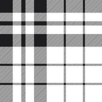 Hibernian tartan check plaid zwart-wit patroon naadloze achtergrond