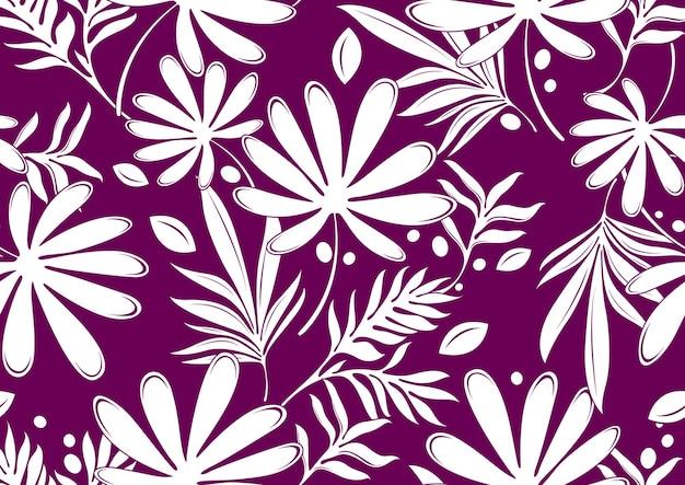 Hibiscus hawaii naadloze patroon, mode achtergrond. Premium Vector