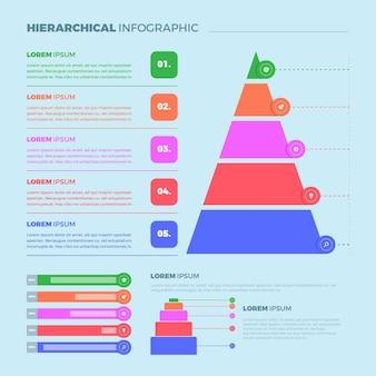 Hiërarchisch infographicsconcept
