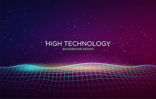 High-tech dekking achtergrond sjabloon