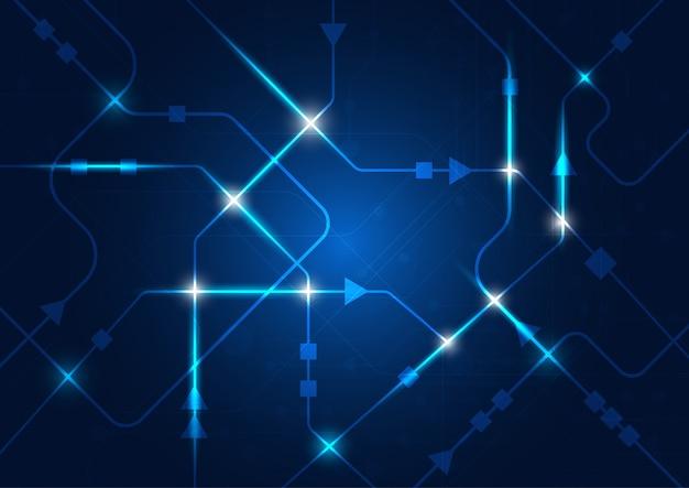 High-tech technologie geometrisch