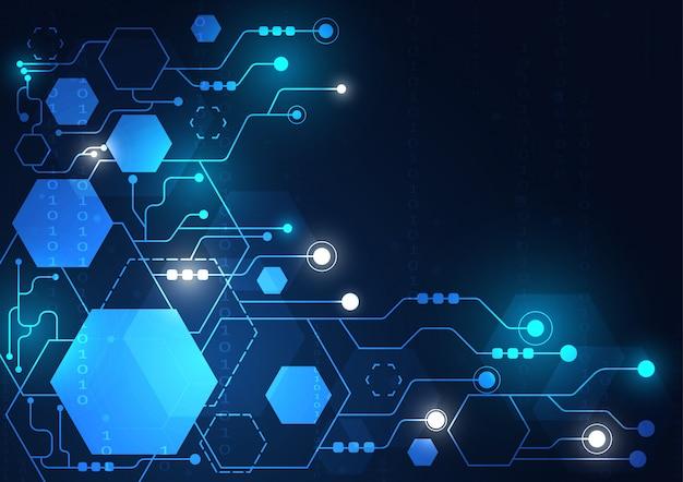 High-tech technologie geometrische en verbindingssysteemachtergrond
