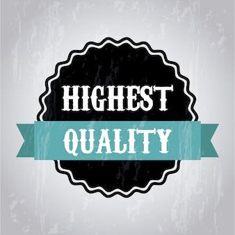 Highet kwaliteit over grijze achtergrond vectorillustratie