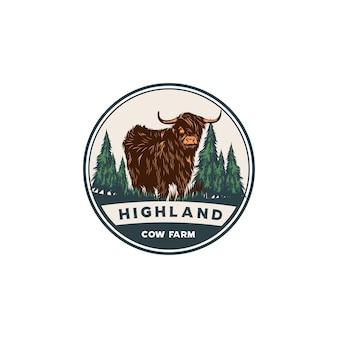 Highland geit embleem llogo