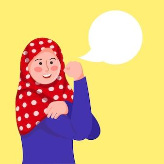 Hijab girl poses