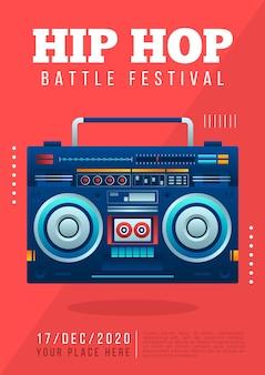 Hip hop muziek poster sjabloon