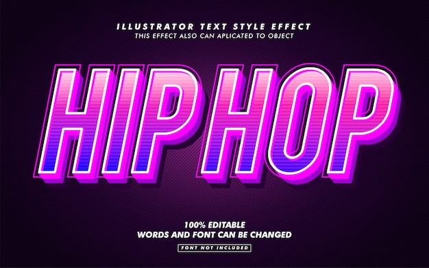 Hip hop text style effect mockup