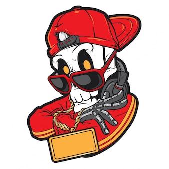 Hiphop-schedel in stijl