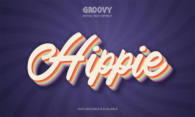 Hippie groovy retro teksteffect