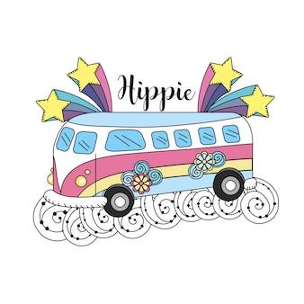 Hippiecultuur van vrede en liefde voor levensstijl
