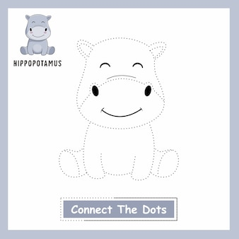 Hippo connect the dots hippopotamus animals