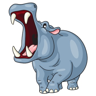 Hippo cute cartoon