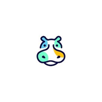 Hippo logo unieke concepten minimalistisch