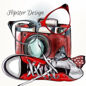 Hipster achtergrond ontwerp