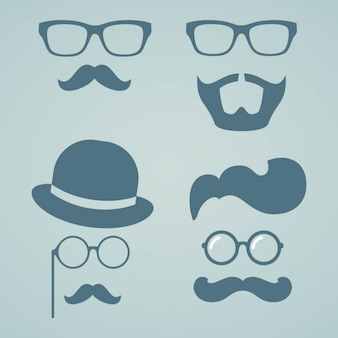 Hipster baard en snor