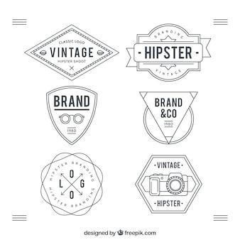 Hipster badges verzamelen
