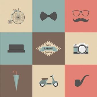 Hipster elementen ontwerp