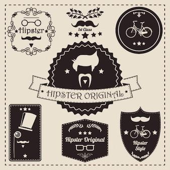 Hipster etiketten collectie
