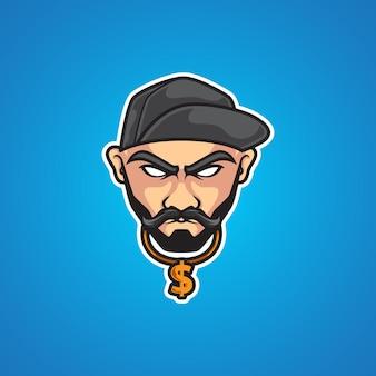 Hipster hip hop sport-logo