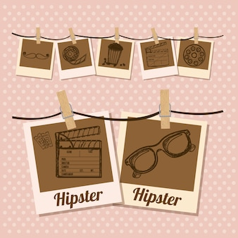 Hipster illustratie