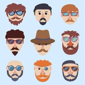Hipster jongensgezichten