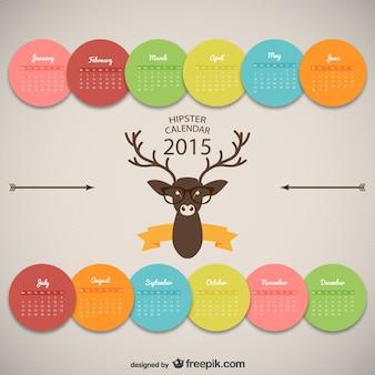 Hipster kalender ontwerp