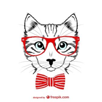 Hipster kat vector illustratie