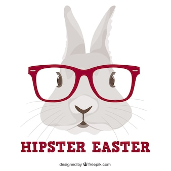 Hipster konijntje